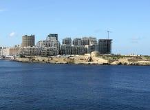 Insediamento in costruzione, st Julian, Malta Immagini Stock Libere da Diritti