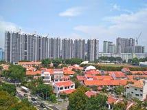 Insediamento privato - proprietà atterrata - Singapore Fotografia Stock Libera da Diritti