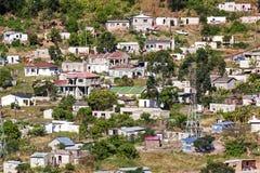 Insediamento urbano ammucchiato di distretto di basso costo in Marianne Hill Fotografie Stock Libere da Diritti