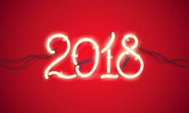 Insegna al neon 2018 Immagine Stock Libera da Diritti