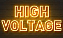 Insegna al neon ad alta tensione Immagini Stock Libere da Diritti