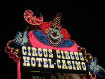 Insegna al neon del circo del circo Fotografia Stock