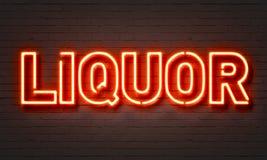 Insegna al neon del liquore Fotografia Stock