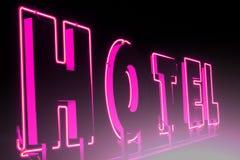Insegna al neon dell'hotel Immagine Stock Libera da Diritti