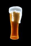 Insegna al neon della birra isolata Fotografia Stock Libera da Diritti