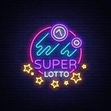 Insegna al neon eccellente di loto Logo in uno stile al neon, simbolo luminoso, lototron, insegna al neon, pubblicità luminosa de Immagini Stock Libere da Diritti