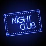 Insegna al neon. Night-club Immagini Stock