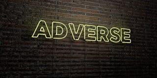 - Insegna al neon realistica sul fondo del muro di mattoni - 3D AVVERSO ha reso l'immagine di riserva libera della sovranità illustrazione vettoriale