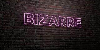 - Insegna al neon realistica sul fondo del muro di mattoni - 3D BIZZARRO ha reso l'immagine di riserva libera della sovranità illustrazione vettoriale