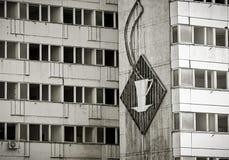 Insegna al neon rotta del GDR a Berlino Immagini Stock Libere da Diritti