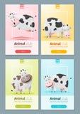 Insegna animale con le mucche per web design Fotografia Stock Libera da Diritti