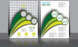 Insegna annuale astratta del documento di Infographic della pagina della rivista del modello del manifesto della copertina di lib Fotografia Stock