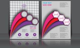 Insegna annuale astratta del documento di Infographic della pagina della rivista del modello del manifesto della copertina di lib Fotografie Stock Libere da Diritti