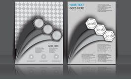 Insegna annuale astratta del documento di Infographic della pagina della rivista del modello del manifesto della copertina di lib Fotografie Stock