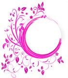 Insegna astratta con i riccioli di colore rosa Immagine Stock Libera da Diritti