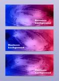 Insegna astratta di affari dell'acquerello Fotografia Stock