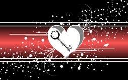 Insegna astratta di amore sul nero Immagini Stock