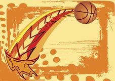 Insegna astratta di pallacanestro Fotografie Stock Libere da Diritti