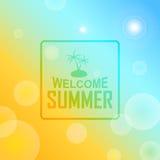 Insegna benvenuta dell'estratto di estate Immagine Stock