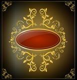 Insegna in bianco dell'oro royalty illustrazione gratis