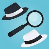 Insegna black hat di seo Lente ed altri strumenti e tattiche di ottimizzazione del motore di ricerca Immagine Stock Libera da Diritti