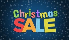 Insegna blu del fondo di vendita di Natale royalty illustrazione gratis