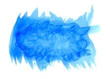 Insegna blu dell'acquerello dell'acqua leggera per web design fotografie stock