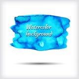 Insegna blu dell'acquerello - modello astratto di vettore Fotografie Stock