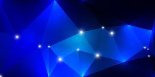 Insegna blu triangolare Immagini Stock