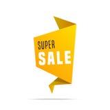 Insegna brillante di vendita eccellente su fondo variopinto Fondo di vendita Progettazione geometrica Vendita eccellente ed offer Immagine Stock Libera da Diritti