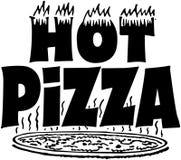 Insegna calda della pizza Fotografie Stock