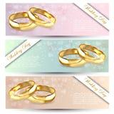 Insegna con due anelli dorati per il concetto di unità royalty illustrazione gratis