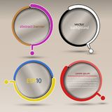 Insegna con il domanda-segno trasparente rotondo astratto - fondo in varie progettazioni Fotografie Stock