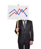 Insegna con il grafico dei profitti immagini stock libere da diritti
