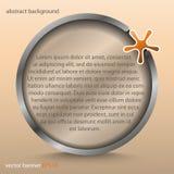 Insegna con la stella trasparente rotonda astratta - per fondo, progettazione, web design Fotografia Stock Libera da Diritti