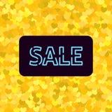Insegna con la vendita al neon royalty illustrazione gratis
