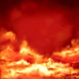 Insegna con le nuvole Fotografia Stock