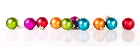 Insegna con le palle di Natale Fotografie Stock