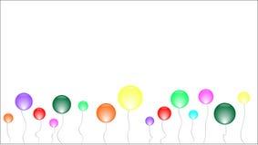 Insegna con molte sfere colourful su un filo royalty illustrazione gratis