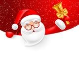 Insegna con Santa Claus Fotografia Stock Libera da Diritti