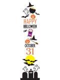 Insegna/confine di Halloween Immagine Stock