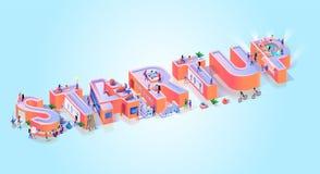 Insegna creativa di tipografia di idea di affari di partenza illustrazione vettoriale