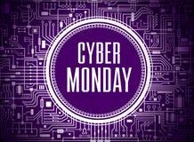 Insegna cyber di vendita di lunedì illustrazione di stock
