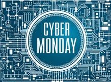Insegna cyber di vendita di lunedì illustrazione vettoriale