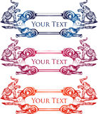Insegna d'annata disegnata a mano 1 dell'elefante royalty illustrazione gratis