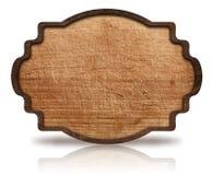 Insegna decorata di legno e riflessione di Brown, con Fotografie Stock