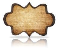 Insegna decorata di legno e riflessione di Brown, con Fotografia Stock