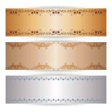 Insegna decorativa con gli ornamenti grafici Fotografie Stock