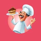 INSEGNA del cuoco unico illustrazione di stock
