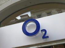 Insegna del deposito O2 Immagini Stock